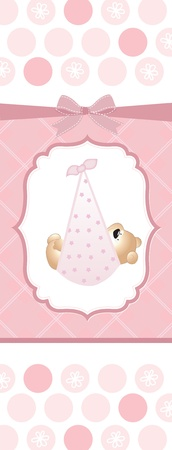 baby birth: baby girl shower card