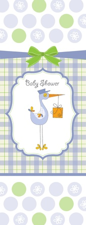 baby boy shower card Stock Vector - 10586757