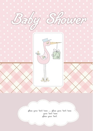 baby girl shower card Stock Vector - 10586868