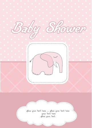 baby girl shower card Stock Vector - 10586862