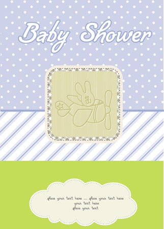 baby boy shower card Stock Vector - 10586923