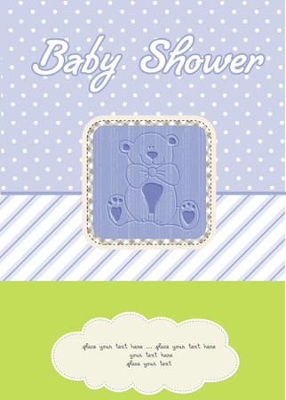 baby boy shower card Stock Vector - 10586924