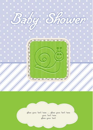 baby boy shower card Stock Vector - 10586921