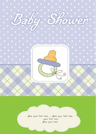 child birth: baby boy shower card