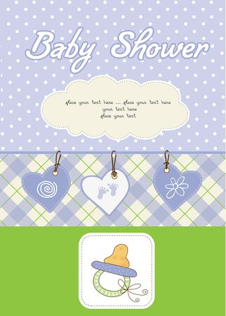 baby boy shower card Stock Vector - 10586886