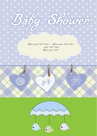 baby boy shower card Stock Vector - 10586883