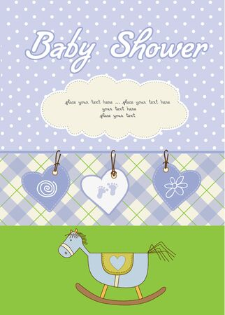 baby boy shower card Stock Vector - 10586882