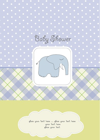 baby boy shower card Stock Vector - 10586851