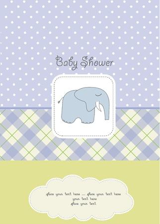 baby boy shower card Stock Vector - 10586851