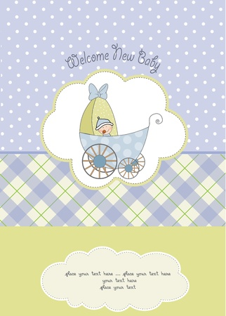 baby boy shower card Stock Vector - 10586867