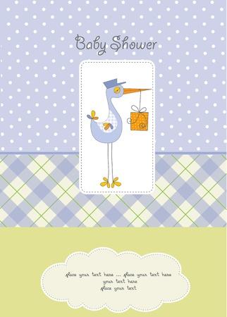 baby boy shower card Stock Vector - 10586861