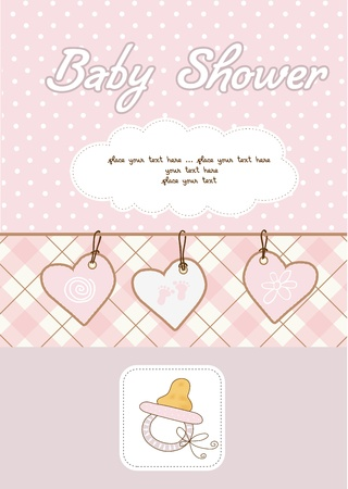 invite congratulate: baby girl shower card