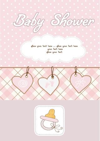 customize: baby girl shower card