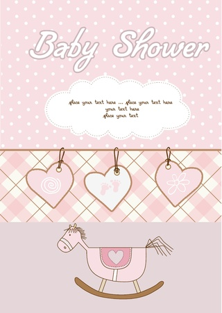 welcome party: tarjeta de ducha baby girl  Vectores