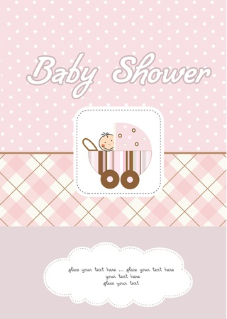 baby shower party: baby girl shower card