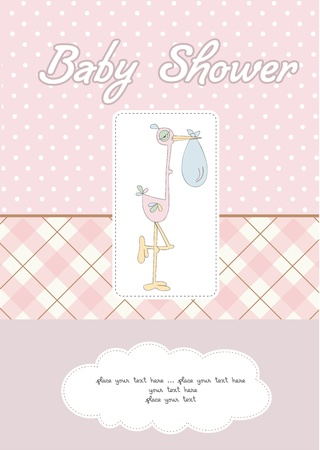 congratulate: baby girl shower card