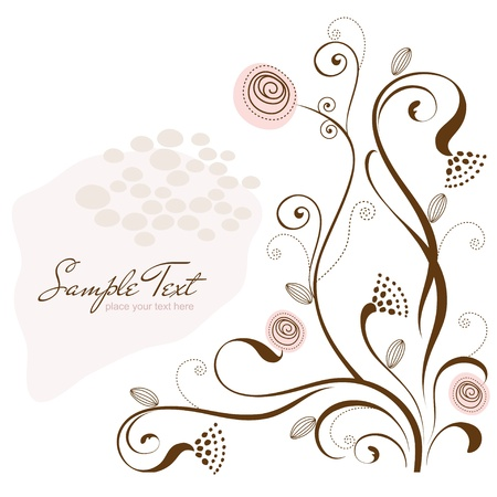 swirly design: flowers