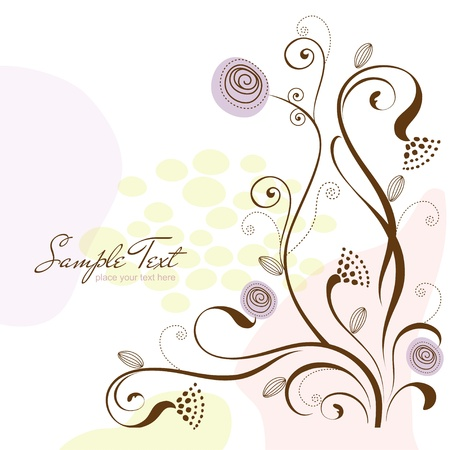 floral swirls: flowers