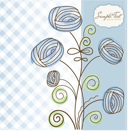 abstract swirls: flowers
