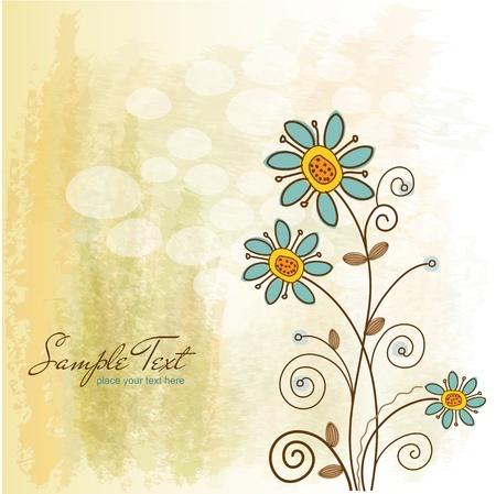 primavera: flores  Vectores