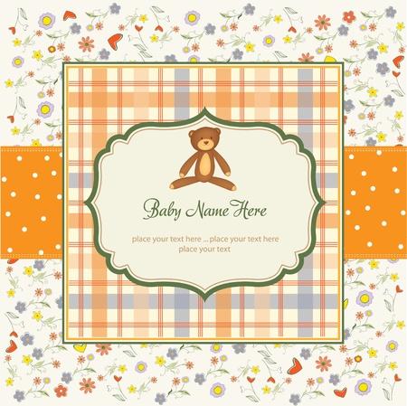 romantic baby shower card  Stock Vector - 10586970