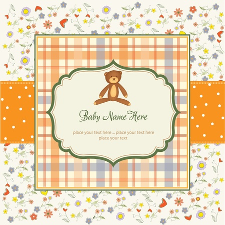 welcome party: romantic baby shower card