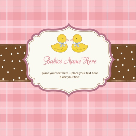 invite congratulate: delicate babies twins shower card