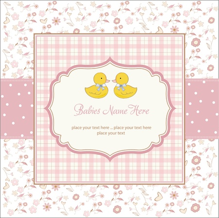 boy shower: delicate babies twins shower card