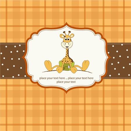 Neue Baby-Mitteilung mit Baby-Giraffe