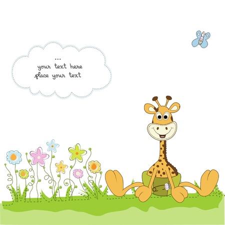invitacion baby shower: nuevo anuncio de beb� con jirafa beb�