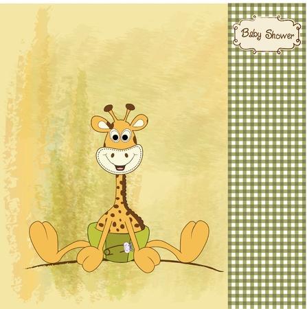 nuevo anuncio de bebé con jirafa bebé