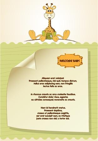 invitacion bebe: nuevo anuncio de beb� con jirafa beb�