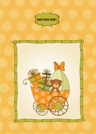 baby shower card Stock Vector - 10586919