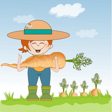 cultivate: gardener to harvest carrots
