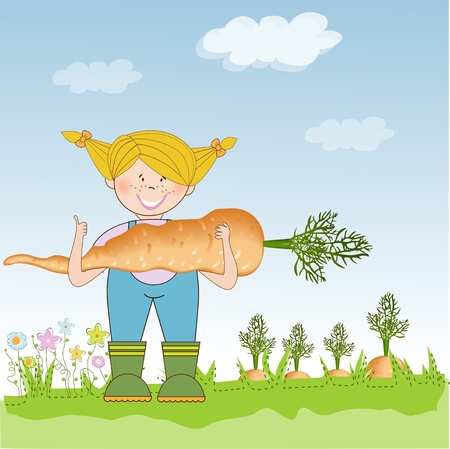agriculturist: gardener to harvest carrots