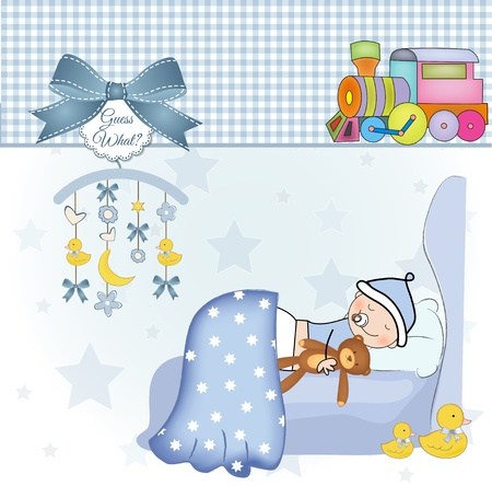 welcome new baby boy  Stock Vector - 10578073