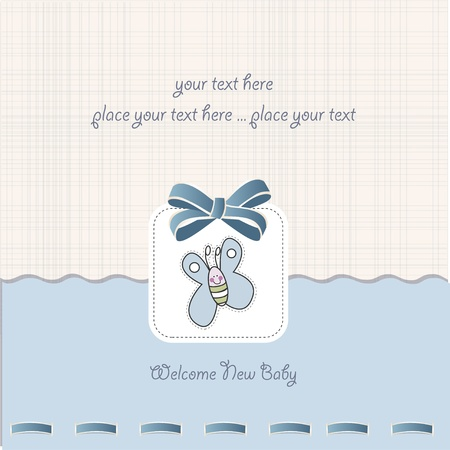 bee party: baby boy shower card