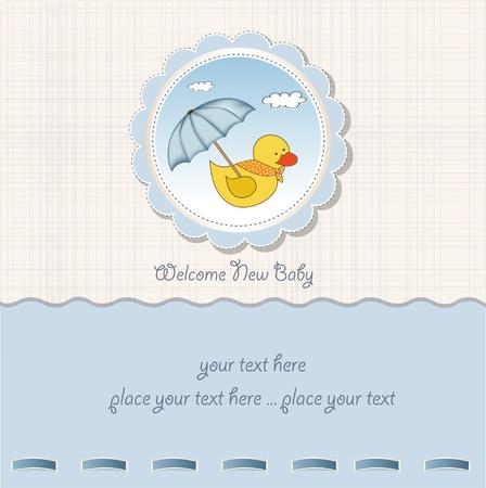 baby duck: carta di bambino doccia Vettoriali