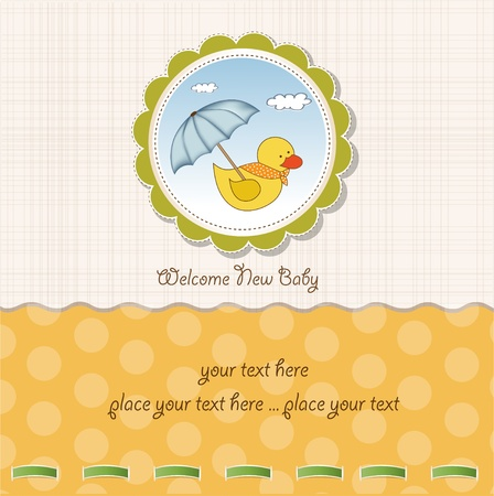 baby duck: baby shower card  Illustration