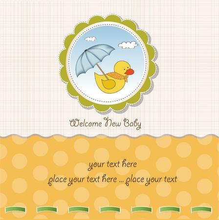toy ducks: baby shower card  Illustration