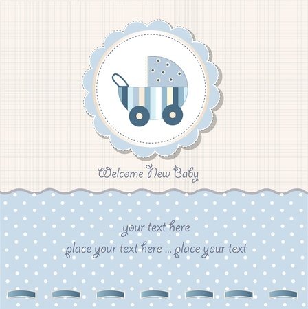 baby boy shower card  Vector