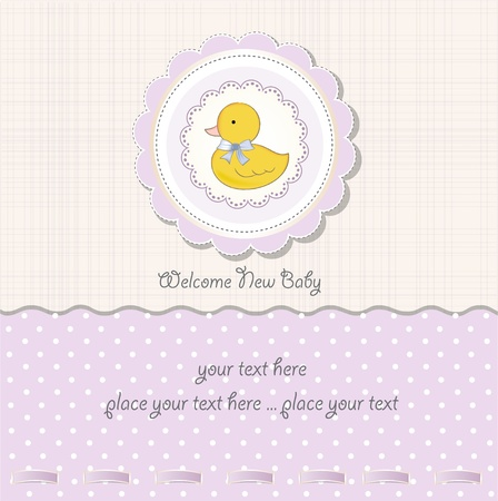 girls with bows: baby girl shower card