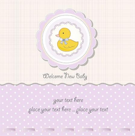 baby duck: baby girl shower card