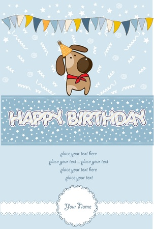 happy birthday card Stock Vector - 10578038