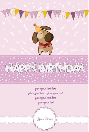 happy birthday card  Stock Vector - 10578036