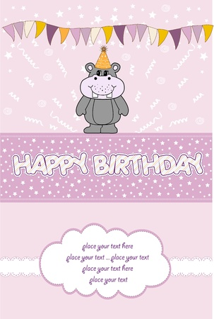 happy birthday card Stock Vector - 10578037