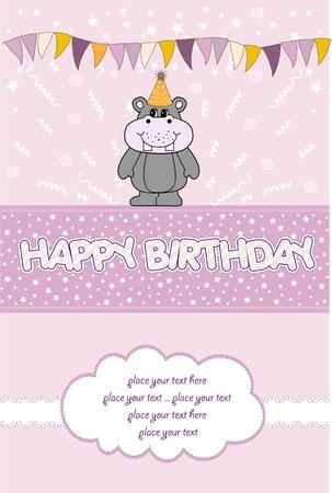 happy birthday card Stock Vector - 10578037