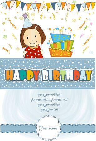 kids celebrating birthday party Stock Vector - 12670188