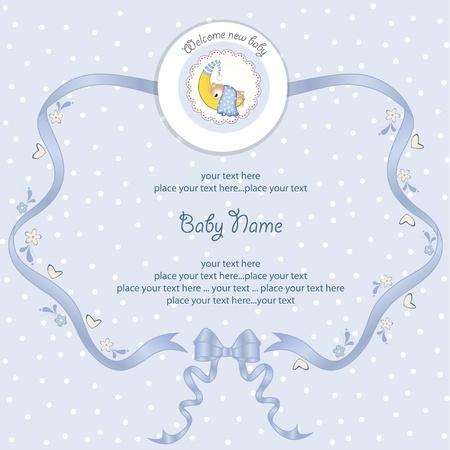 baby duck: baby shower scheda Vettoriali