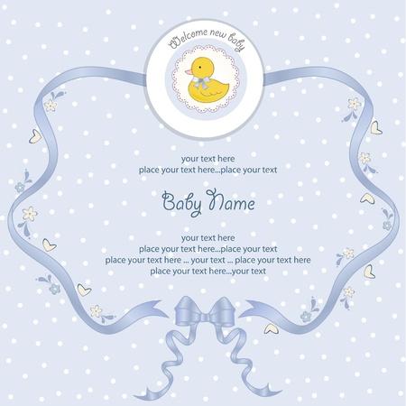 battesimo: New Baby boy carta di doccia